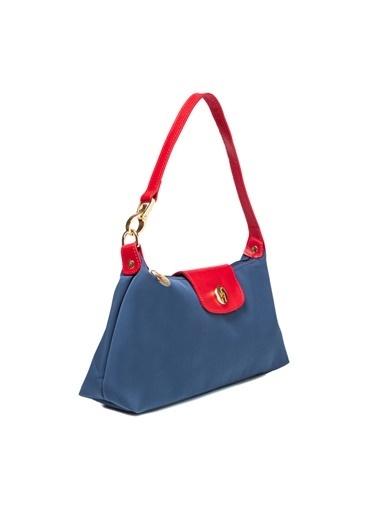 TH Bags TH Bags 2THCW2020186 Suni Deri Fermuarlı Kadın Omuz Çantası Renkli